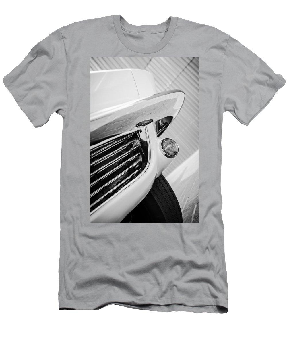 1963 Chevrolet Corvette Split Window Grille Men's T-Shirt (Athletic Fit) featuring the photograph 1963 Chevrolet Corvette Split Window Grille -221bw by Jill Reger