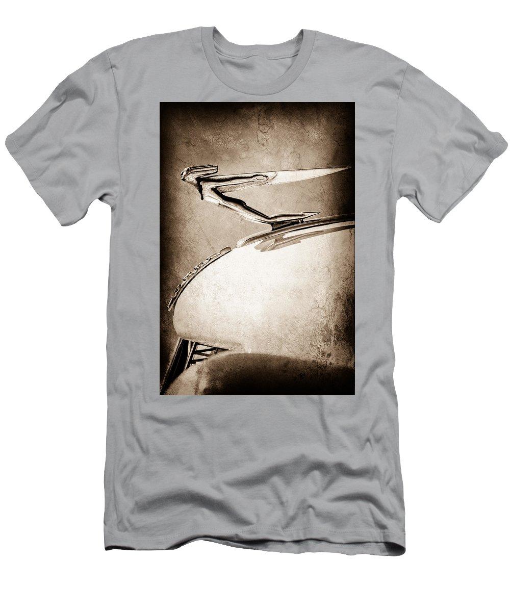 1935 Auburn Hood Ornament Men's T-Shirt (Athletic Fit) featuring the photograph 1935 Auburn Hood Ornament by Jill Reger