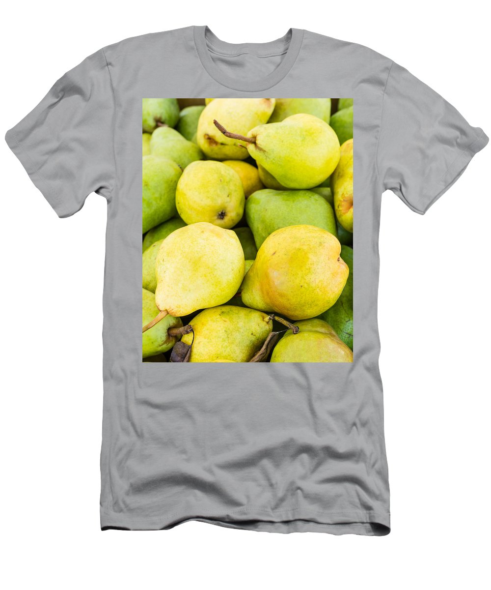 Agriculture Men's T-Shirt (Athletic Fit) featuring the photograph Bartlett Pears by John Trax