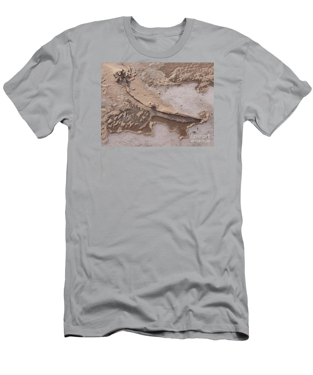 Sand Men's T-Shirt (Athletic Fit) featuring the photograph Cold Blew The Wind by Ann Horn