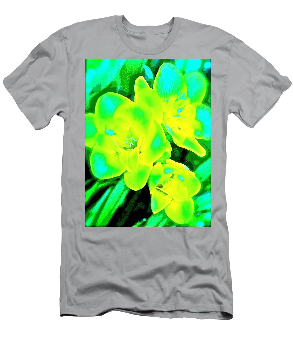 Floral Men's T-Shirt (Athletic Fit) featuring the photograph Color 16 by Pamela Cooper