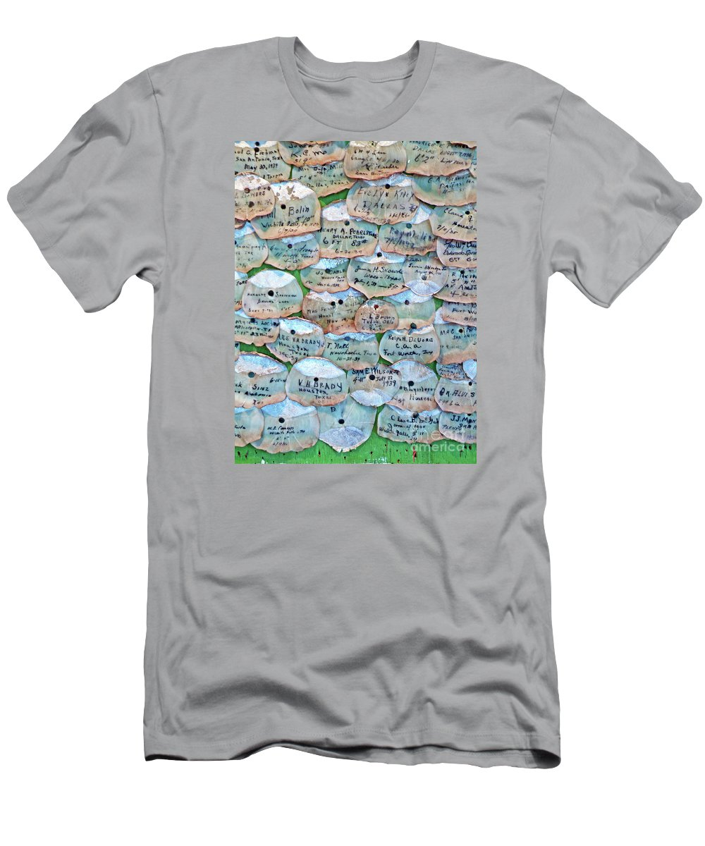 Framed Tarpon Scale Print Men's T-Shirt (Athletic Fit) featuring the photograph Extinction Wall by Joe Jake Pratt