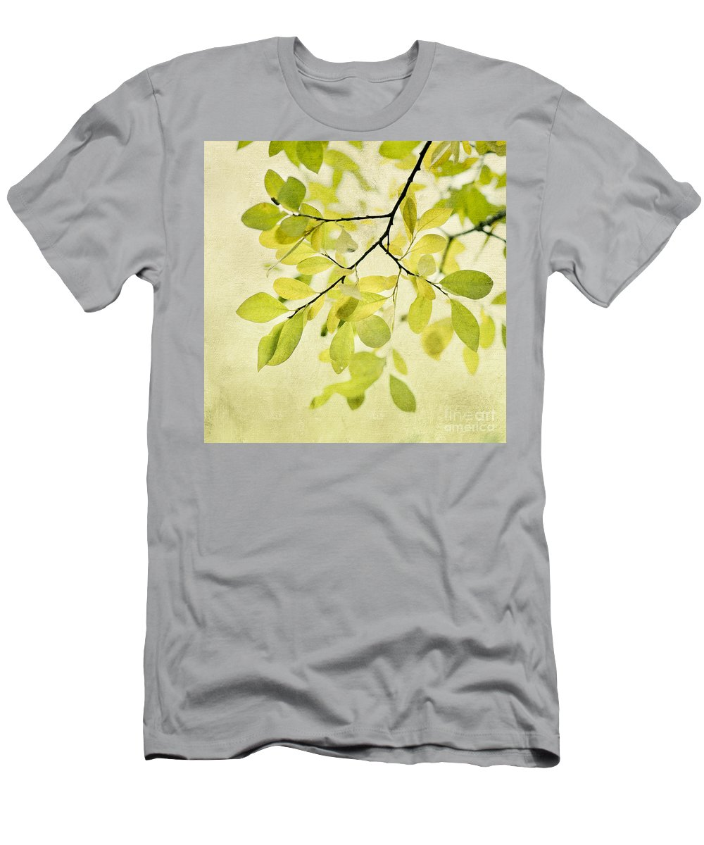 Foliage Men's T-Shirt (Athletic Fit) featuring the photograph Green Foliage Series by Priska Wettstein
