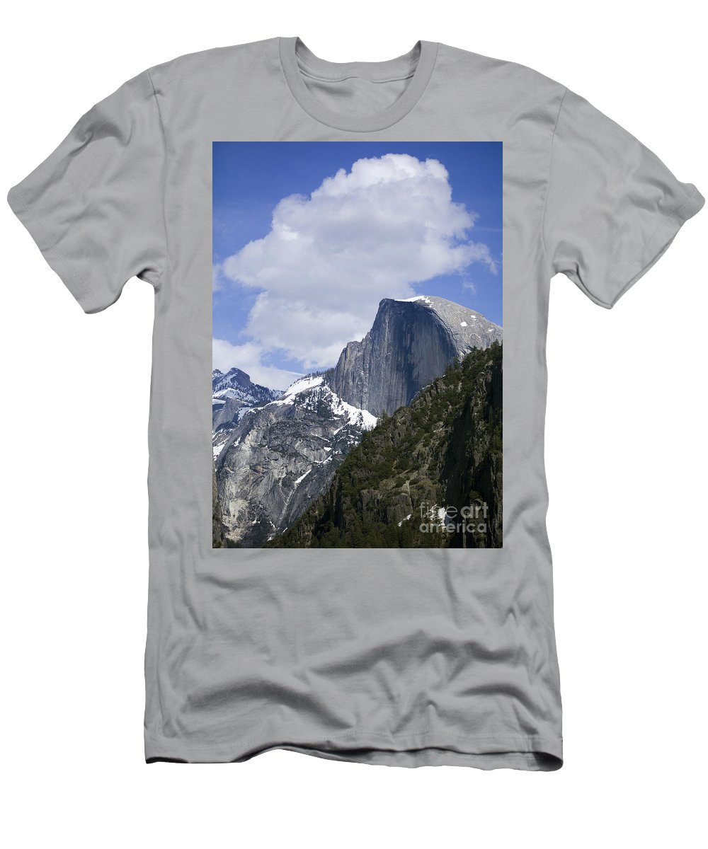 North America Men's T-Shirt (Athletic Fit) featuring the photograph Half Dome by B Christopher