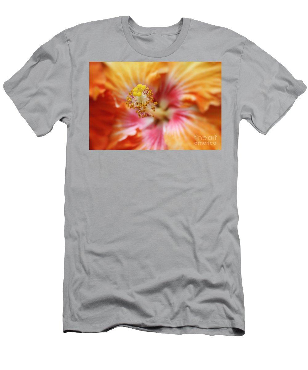 Aloha Men's T-Shirt (Athletic Fit) featuring the photograph Ko Aloha Makamae E Ipo Aloalo Exotic Tropical Hibiscus Maui Hawaii by Sharon Mau