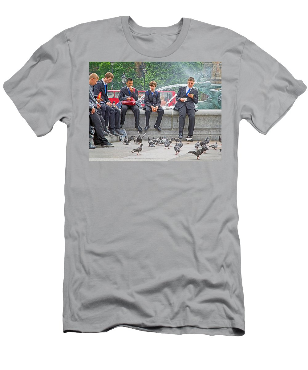 Students Men's T-Shirt (Athletic Fit) featuring the photograph Lunch Dilemma by Keith Armstrong