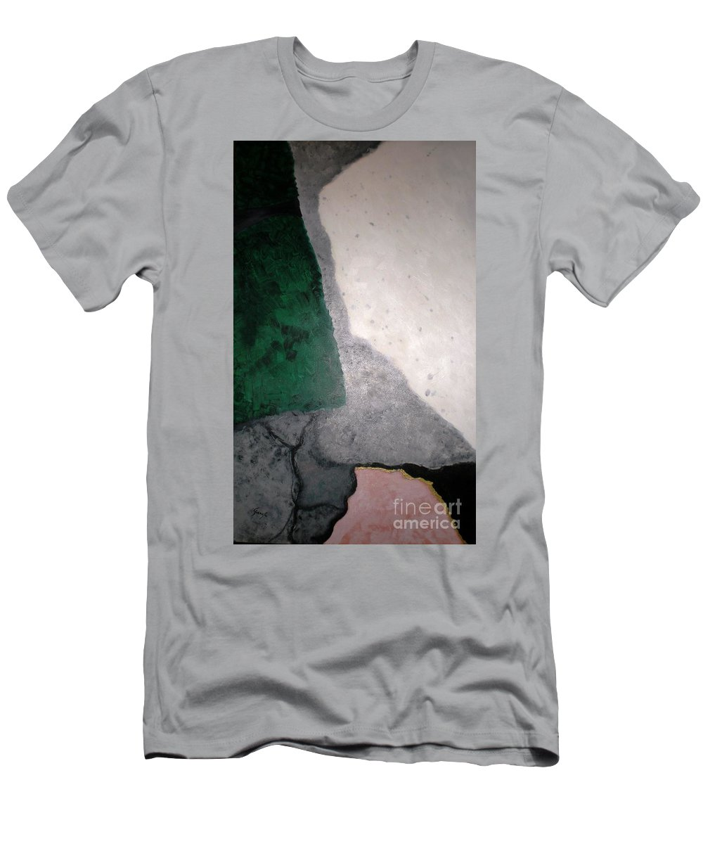 Abstract Men's T-Shirt (Athletic Fit) featuring the painting Orient by Graciela Castro