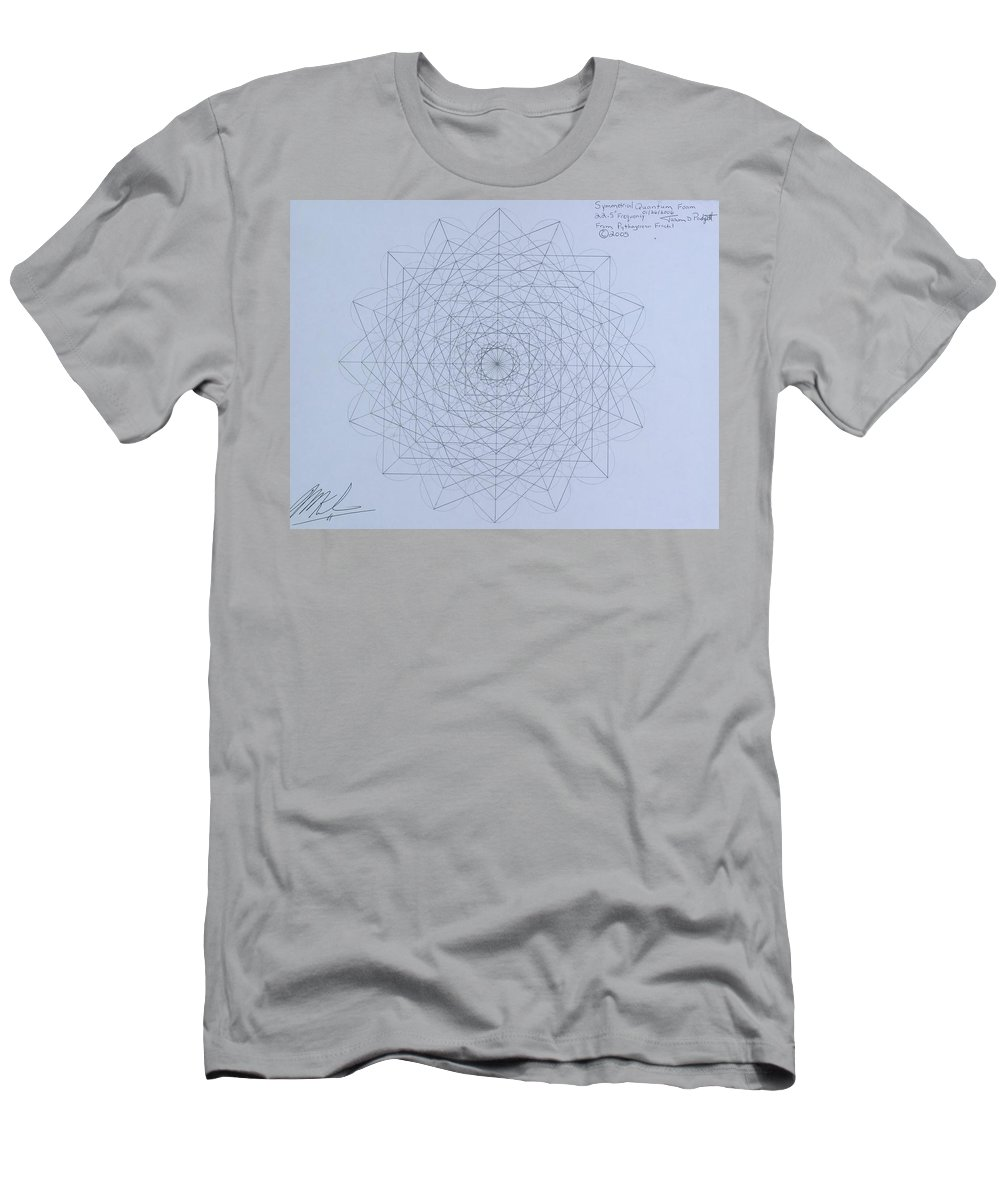 Jason Men's T-Shirt (Athletic Fit) featuring the drawing Quantum Foam by Jason Padgett