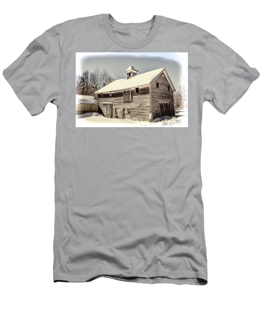 Old Men's T-Shirt (Athletic Fit) featuring the digital art Snow In The Country by Ray Summers Photography