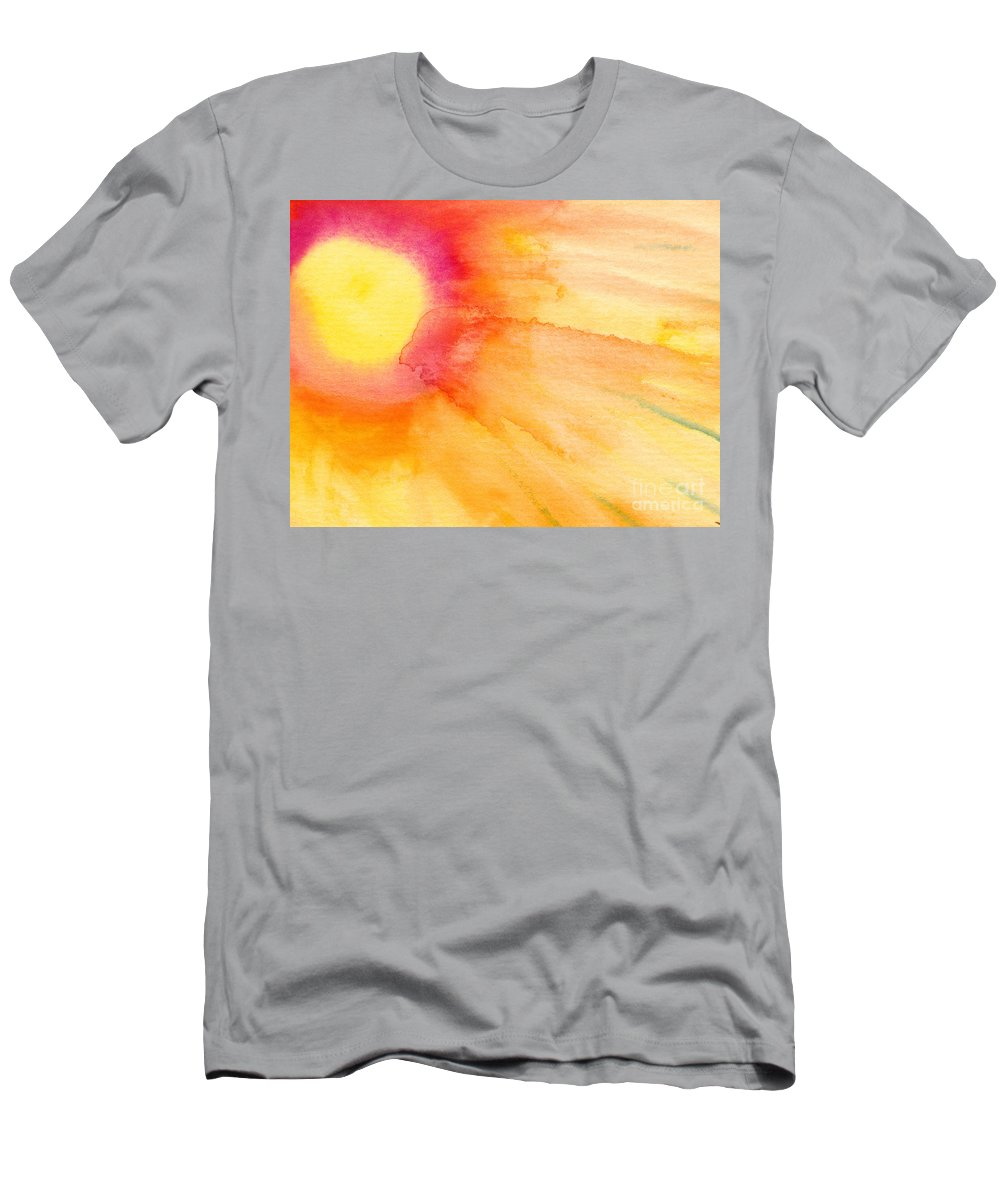 Light Men's T-Shirt (Athletic Fit) featuring the painting Sun And Sunlight by Kerstin Ivarsson