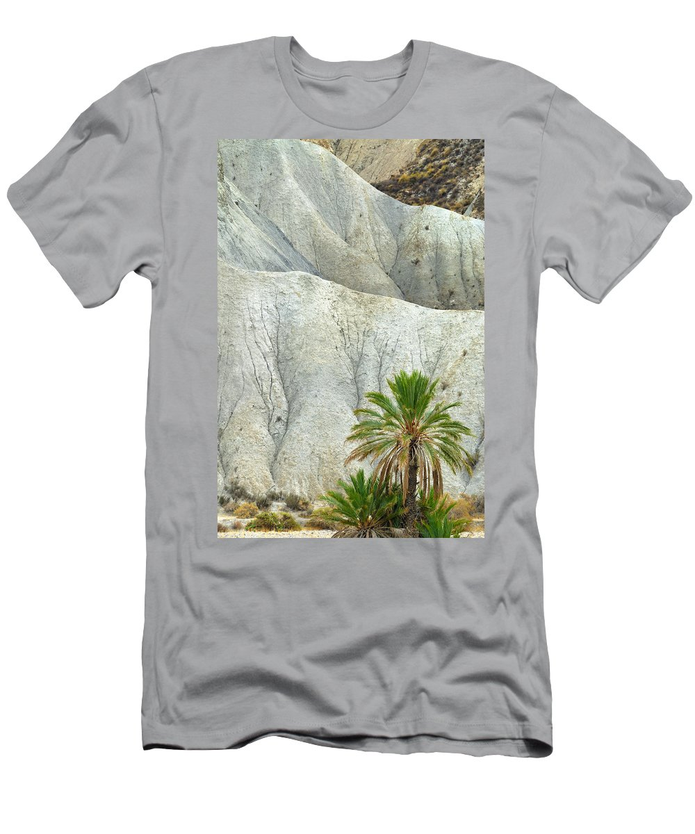 Desert Men's T-Shirt (Athletic Fit) featuring the photograph Tabernas Desert by Guido Montanes Castillo