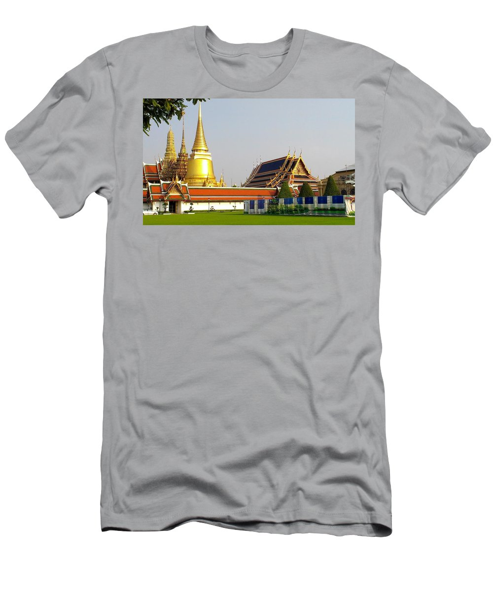 Thailand Men's T-Shirt (Athletic Fit) featuring the photograph Thai Kings Grand Palace by Sumit Mehndiratta