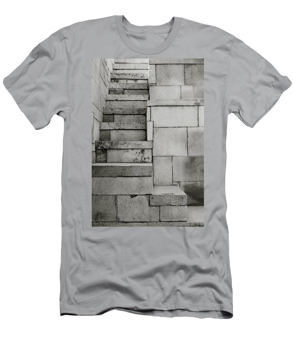 Minimalism Men's T-Shirt (Athletic Fit) featuring the photograph The Stairway by Shaun Higson