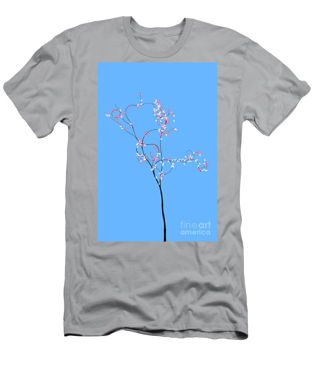 Trees Men's T-Shirt (Athletic Fit) featuring the digital art Trees Of Life by Charles Dobbs