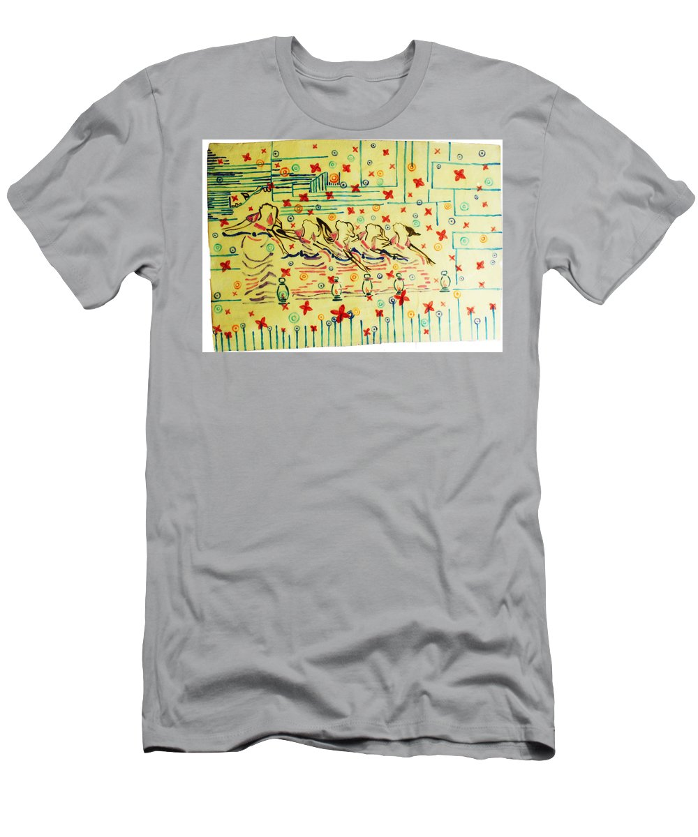 Jesus Men's T-Shirt (Athletic Fit) featuring the ceramic art Wise Virgins by Gloria Ssali