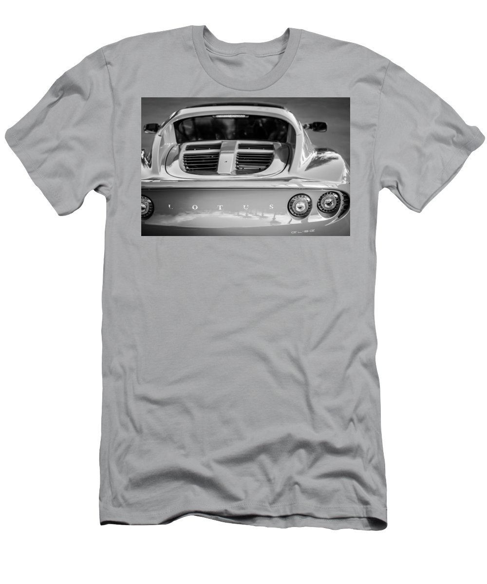 2006 Lotus Elise Men's T-Shirt (Athletic Fit) featuring the photograph 2006 Lotus Elise -0046bw by Jill Reger