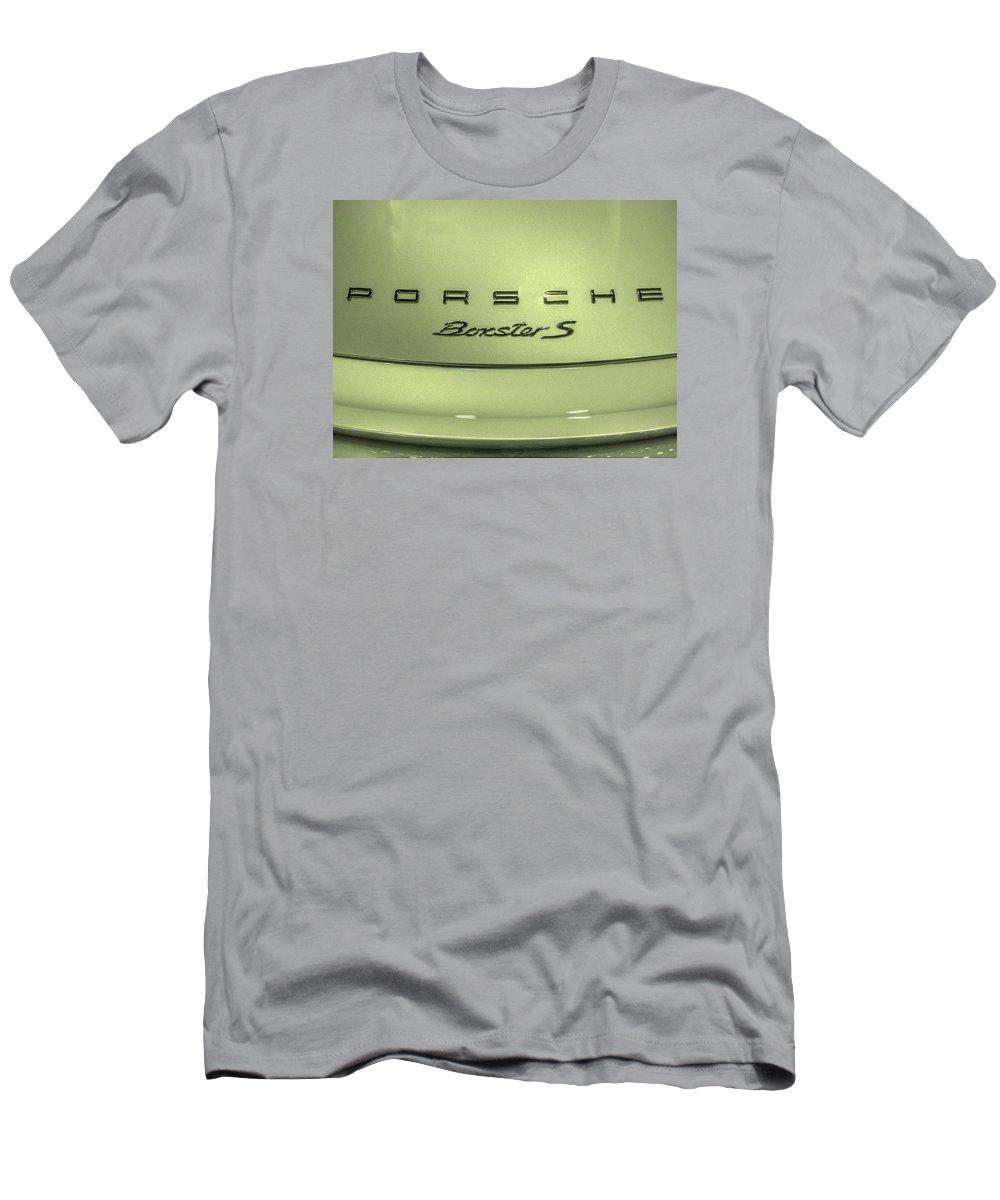 2014 Porsche Boxster S Men's T-Shirt (Athletic Fit) featuring the photograph 2014 Porsche Boxster S by John Straton