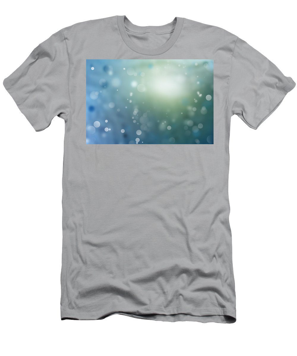 Abstract Men's T-Shirt (Athletic Fit) featuring the photograph Abstract Background by Les Cunliffe