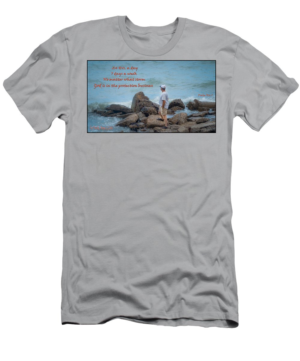 Psalm 91 Men's T-Shirt (Athletic Fit) featuring the photograph 24 Hr Protection by Leticia Latocki