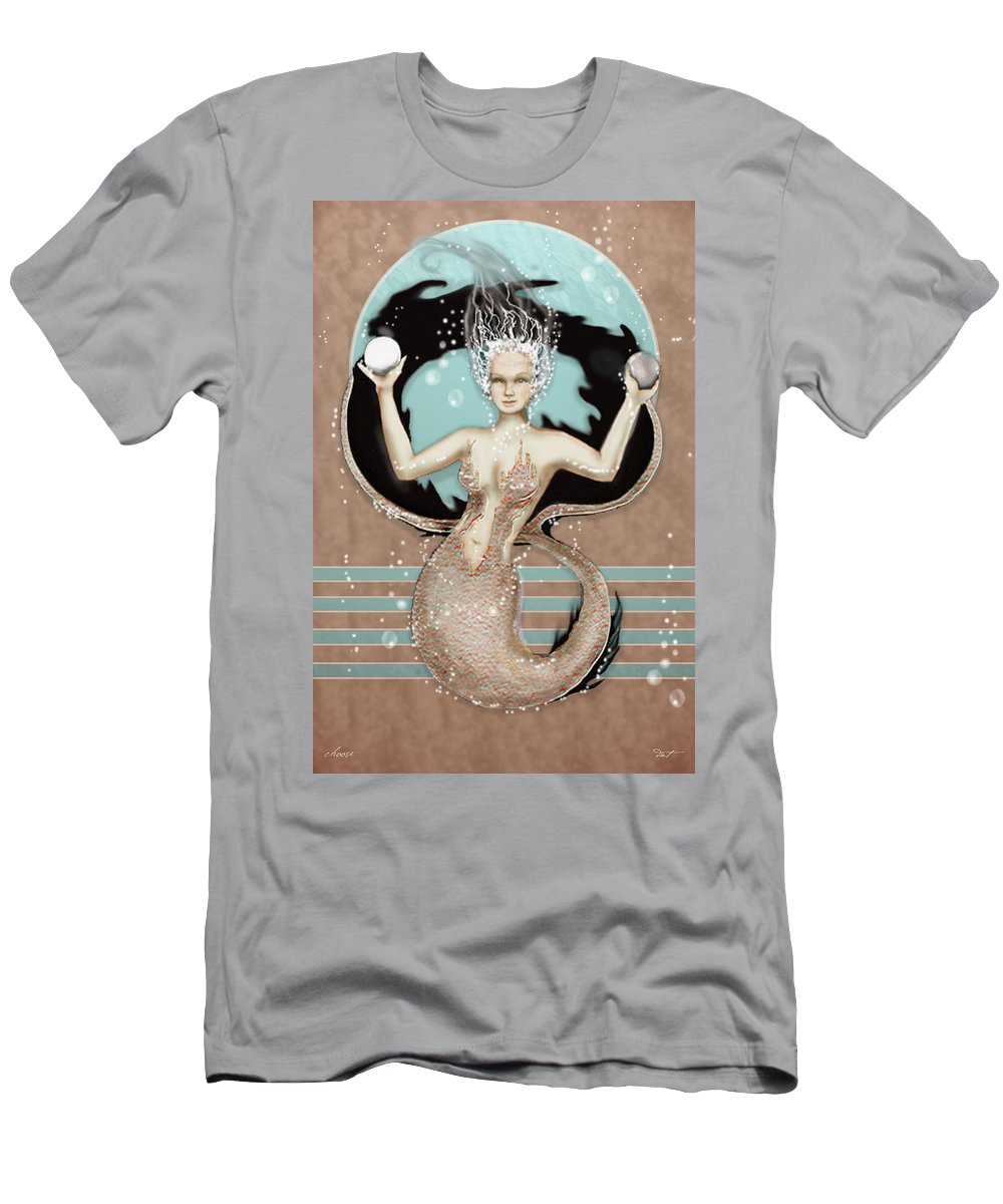 Mermaid Men's T-Shirt (Athletic Fit) featuring the digital art 24x36 Choose Mermaid by Dia T