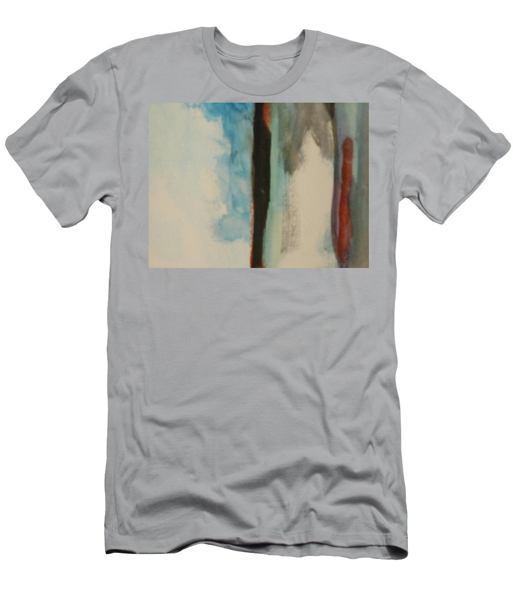 Water Men's T-Shirt (Athletic Fit) featuring the painting Abstract by Lord Frederick Lyle Morris - Disabled Veteran