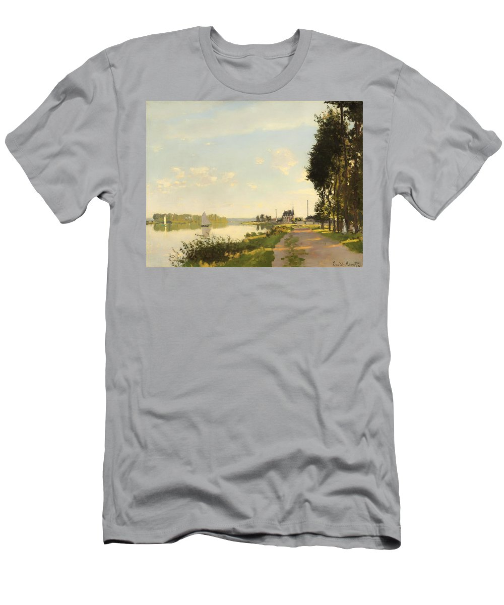 Argenteuil Men's T-Shirt (Athletic Fit) featuring the painting Argenteuil by Mountain Dreams