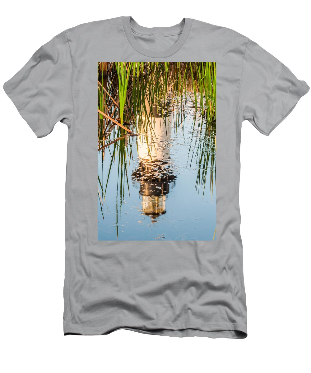 Banks Men's T-Shirt (Athletic Fit) featuring the photograph Bodie Island Lighthouse Obx Cape Hatteras North Carolina by Alex Grichenko