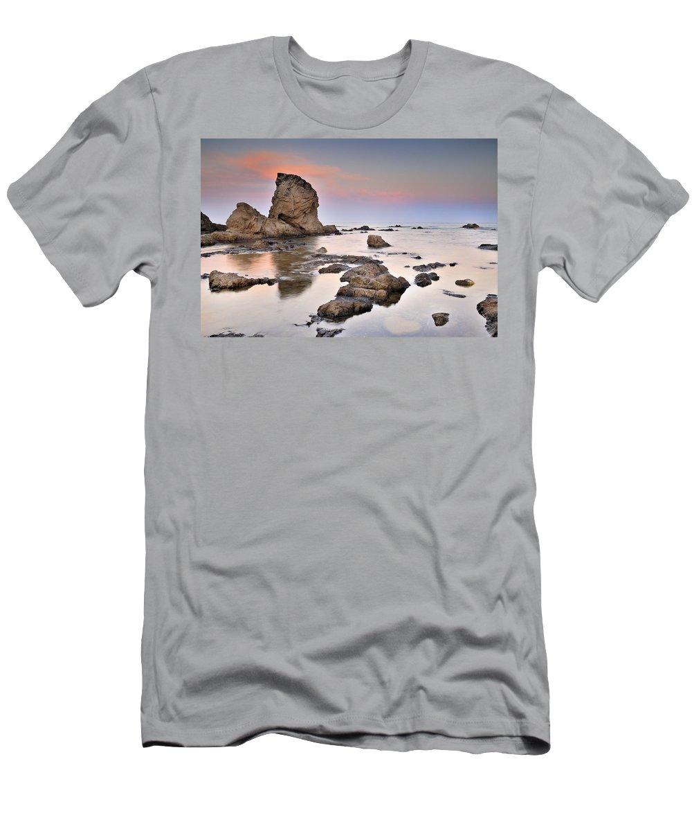 Seascape Men's T-Shirt (Athletic Fit) featuring the photograph Cabo De Gata by Guido Montanes Castillo