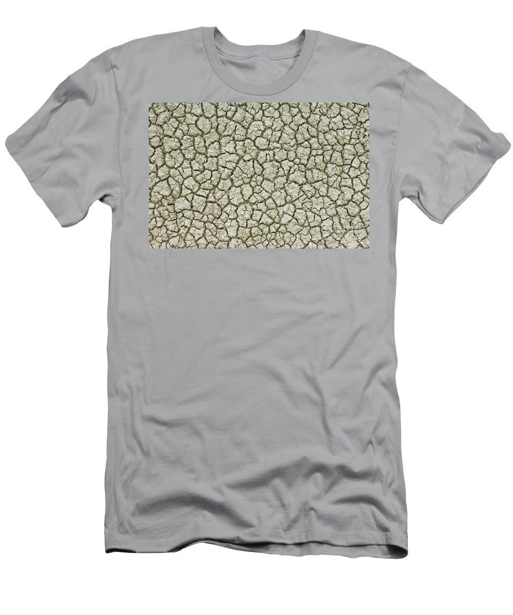 Dry Men's T-Shirt (Athletic Fit) featuring the photograph Cracked Dry Clay by John Shaw