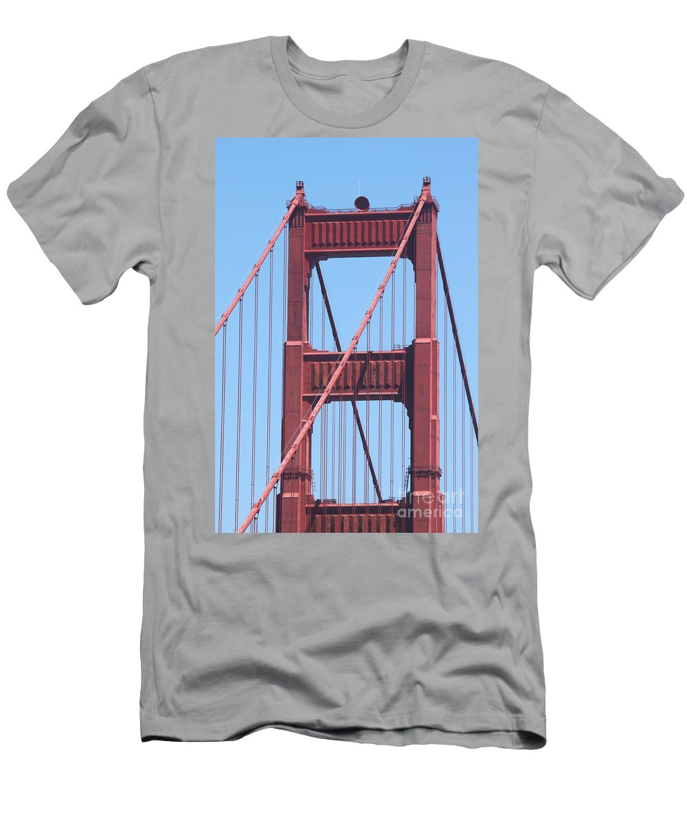 san Francisco Men's T-Shirt (Athletic Fit) featuring the photograph Golden Gate by Henrik Lehnerer