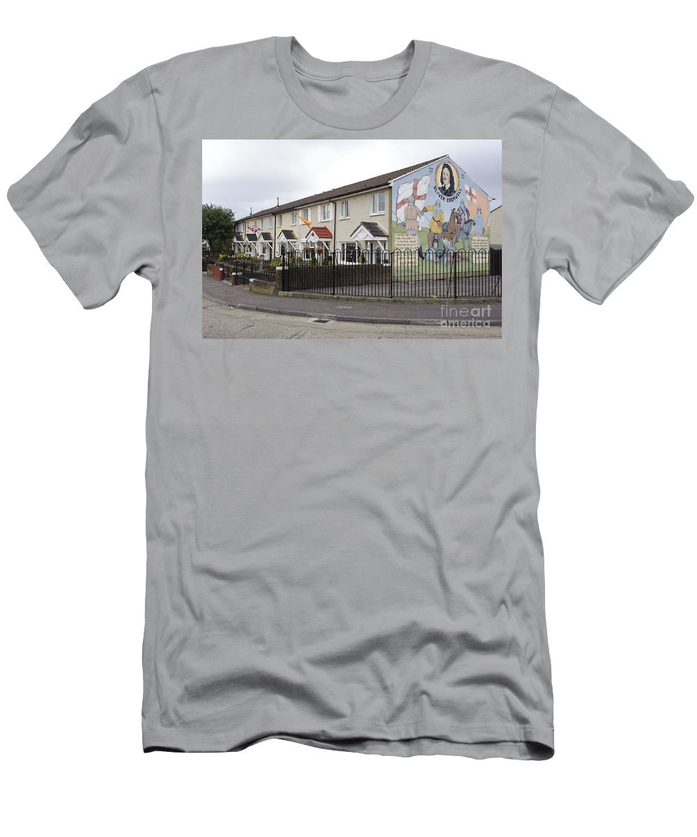 Belfast Men's T-Shirt (Athletic Fit) featuring the photograph Mural In Shankill, Belfast, Ireland by John Shaw