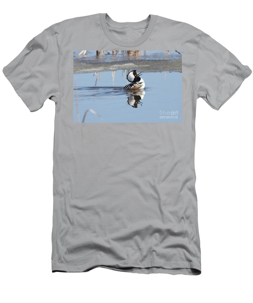 Duck Men's T-Shirt (Athletic Fit) featuring the photograph The Dance by Lori Tordsen