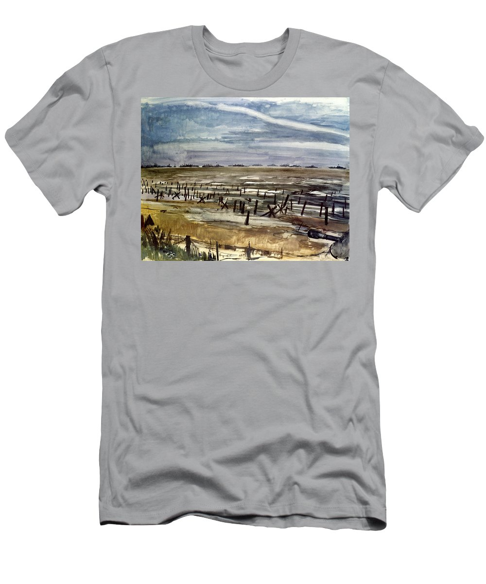 1944 Men's T-Shirt (Athletic Fit) featuring the photograph World War II: Normandy by Granger