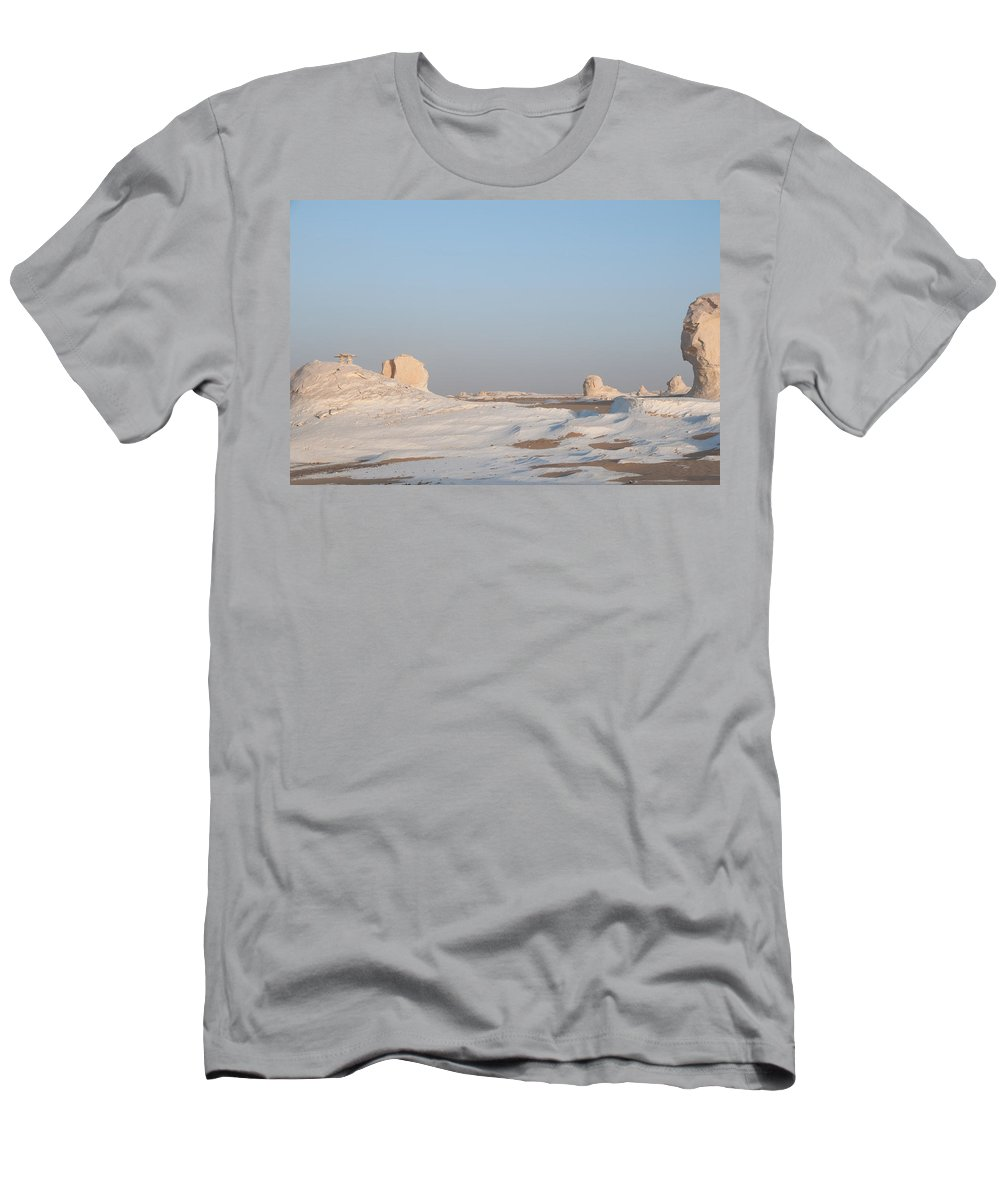 Egypt Desert Men's T-Shirt (Athletic Fit) featuring the digital art White Desert by Carol Ailles