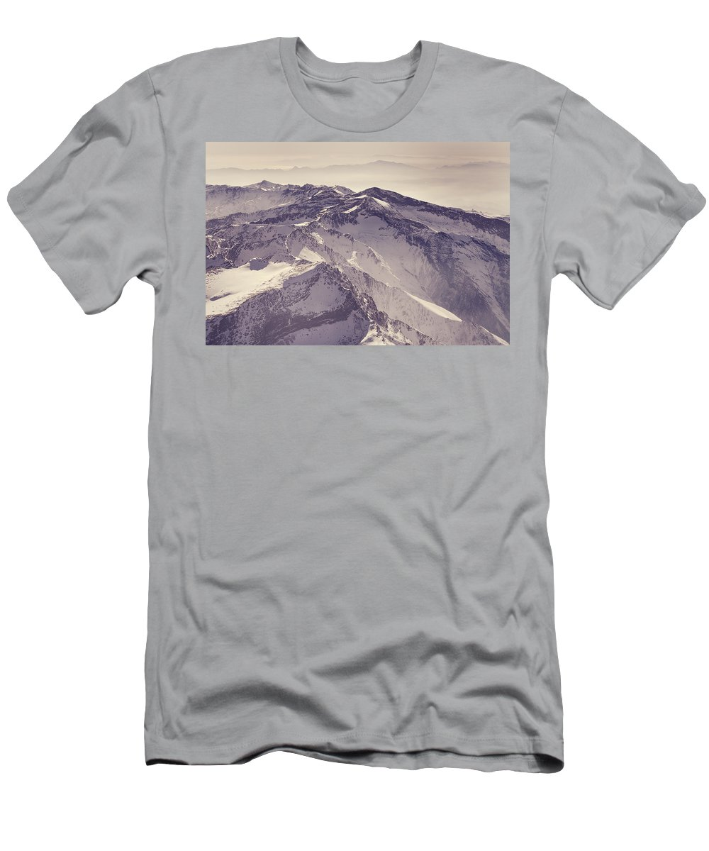 Retro Men's T-Shirt (Athletic Fit) featuring the photograph 3.478 Meters Aerial Retro by Guido Montanes Castillo