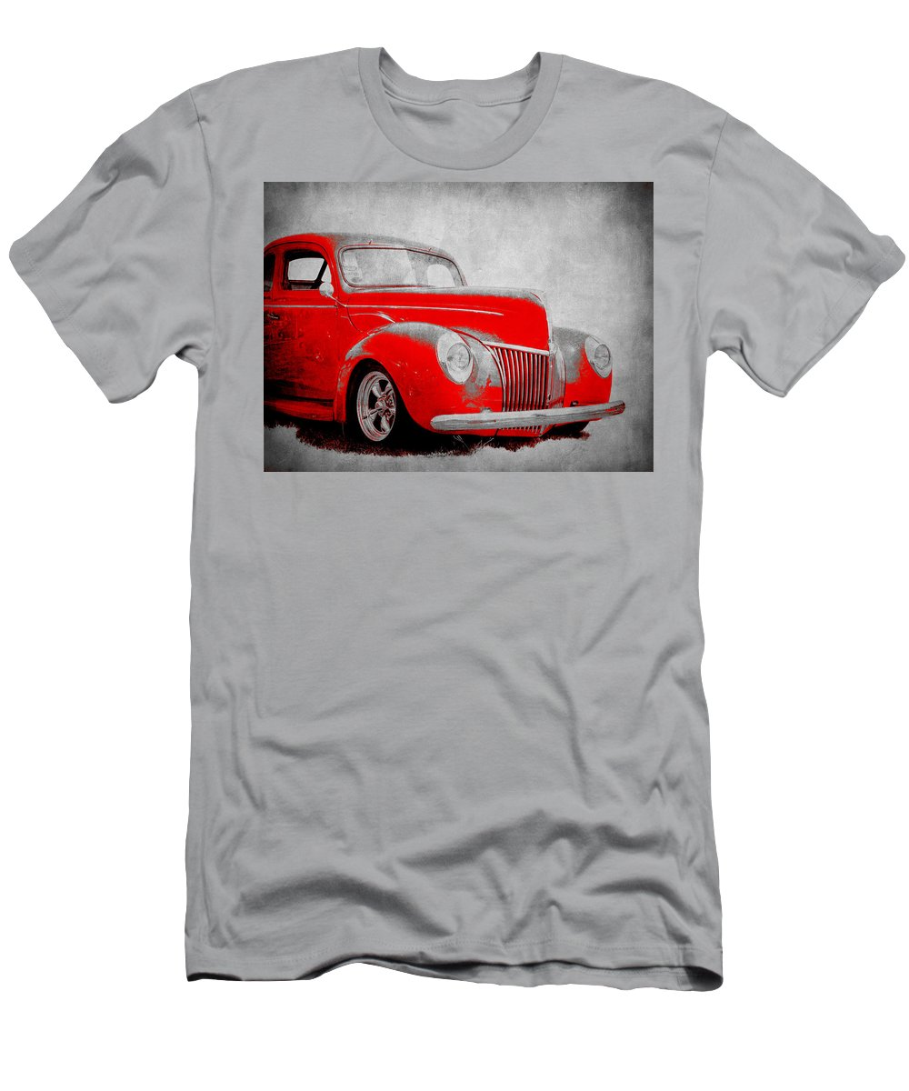 40 Ford Coupe Men's T-Shirt (Athletic Fit) featuring the photograph 39 Ford by Steve McKinzie