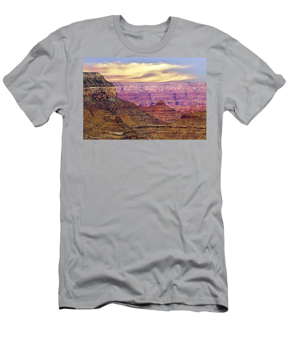Grand Canyon Men's T-Shirt (Athletic Fit) featuring the photograph Grand Canyon National Park South Rim by Bob and Nadine Johnston