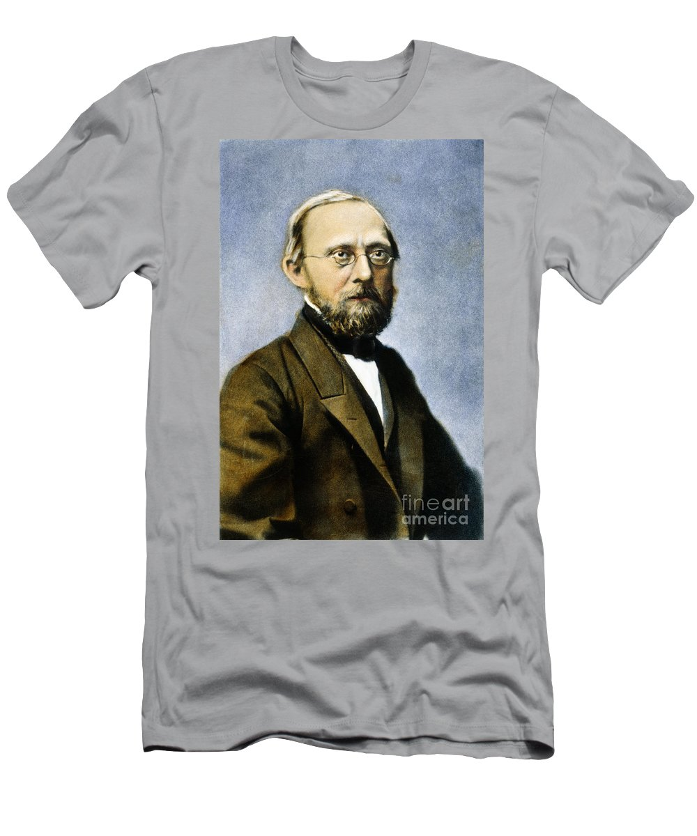 19th Century Men's T-Shirt (Athletic Fit) featuring the photograph Rudolf Virchow (1821-1902) by Granger