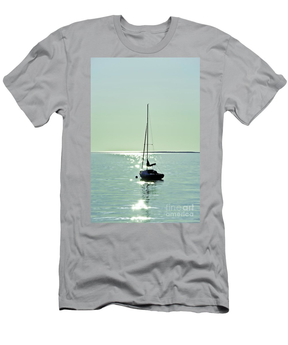 Cape Cod Men's T-Shirt (Athletic Fit) featuring the photograph Sailboat by John Greim