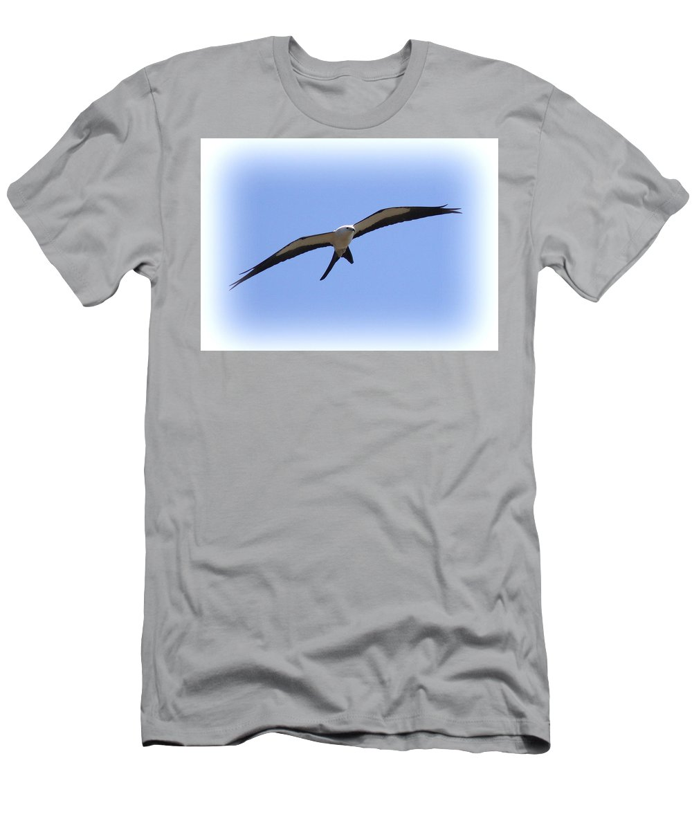Swallow-tailed Kite Men's T-Shirt (Athletic Fit) featuring the photograph Swallow-tailed Kite by Travis Truelove