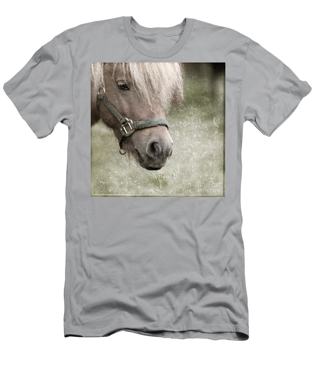 Horse Men's T-Shirt (Athletic Fit) featuring the photograph The Look by Angel Tarantella