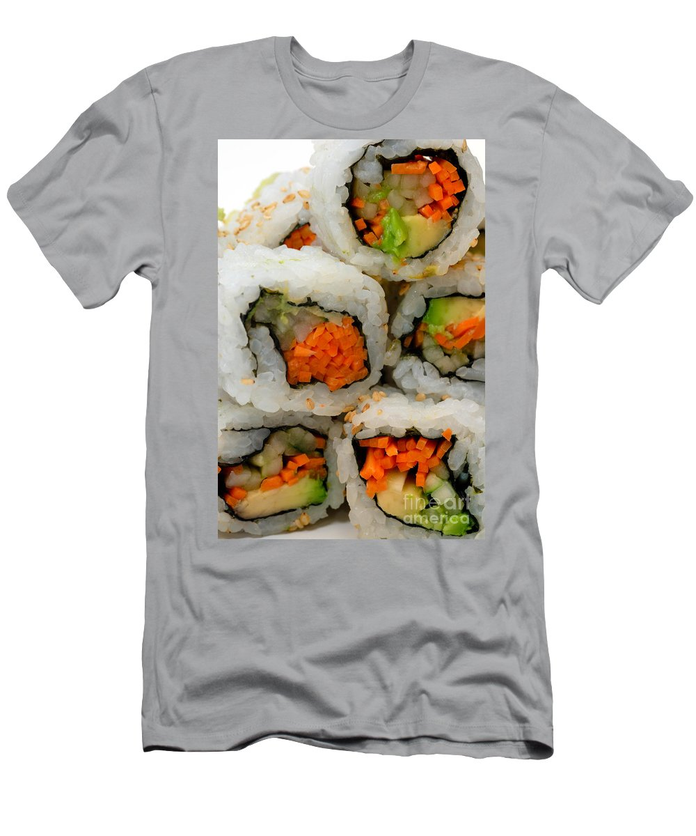 Appetizer Men's T-Shirt (Athletic Fit) featuring the photograph Vegetable Sushi by Amy Cicconi