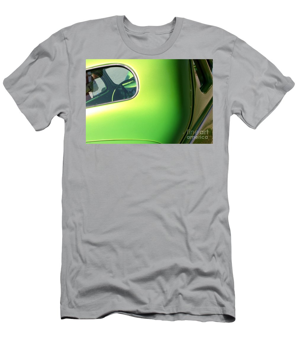 1940 Men's T-Shirt (Athletic Fit) featuring the photograph 40 Ford - Rear Window-8547 by Gary Gingrich Galleries