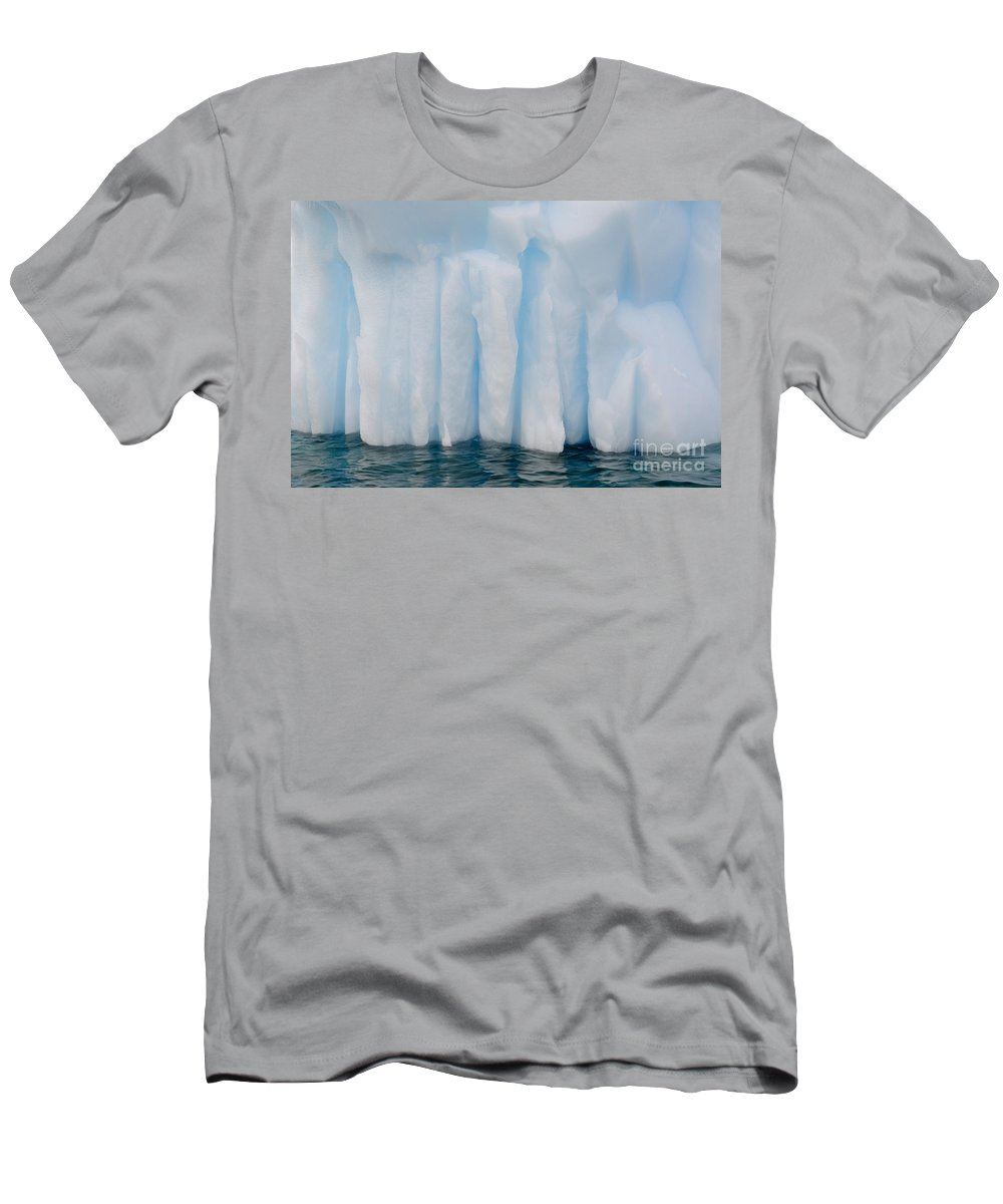 Nature Men's T-Shirt (Athletic Fit) featuring the photograph Iceberg, Antarctica by John Shaw
