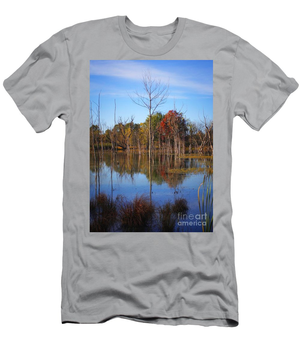 Men's T-Shirt (Athletic Fit) featuring the photograph Autumn 2013 by Chet B Simpson