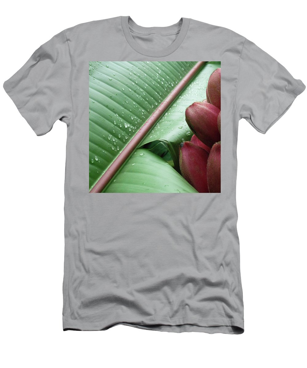 Banana Men's T-Shirt (Athletic Fit) featuring the photograph Banana Leaf by Heiko Koehrer-Wagner