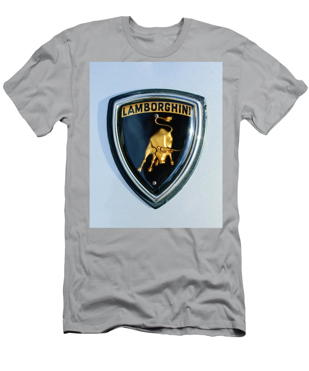 Lamborghini Emblem T-Shirt featuring the photograph Lamborghini Emblem by Jill Reger
