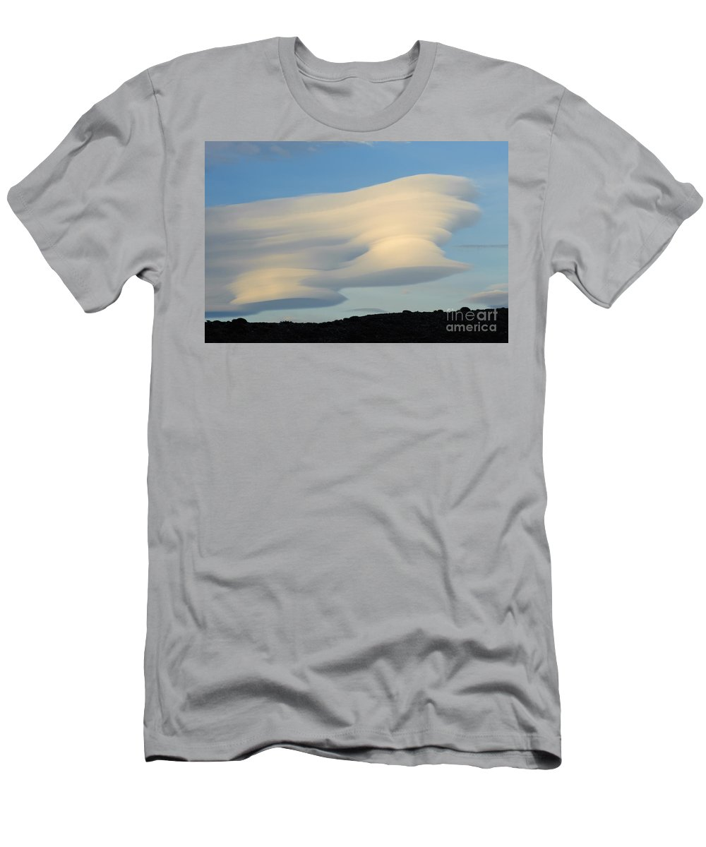 Argentina Men's T-Shirt (Athletic Fit) featuring the photograph Lenticular At Dawn, Argentina by John Shaw