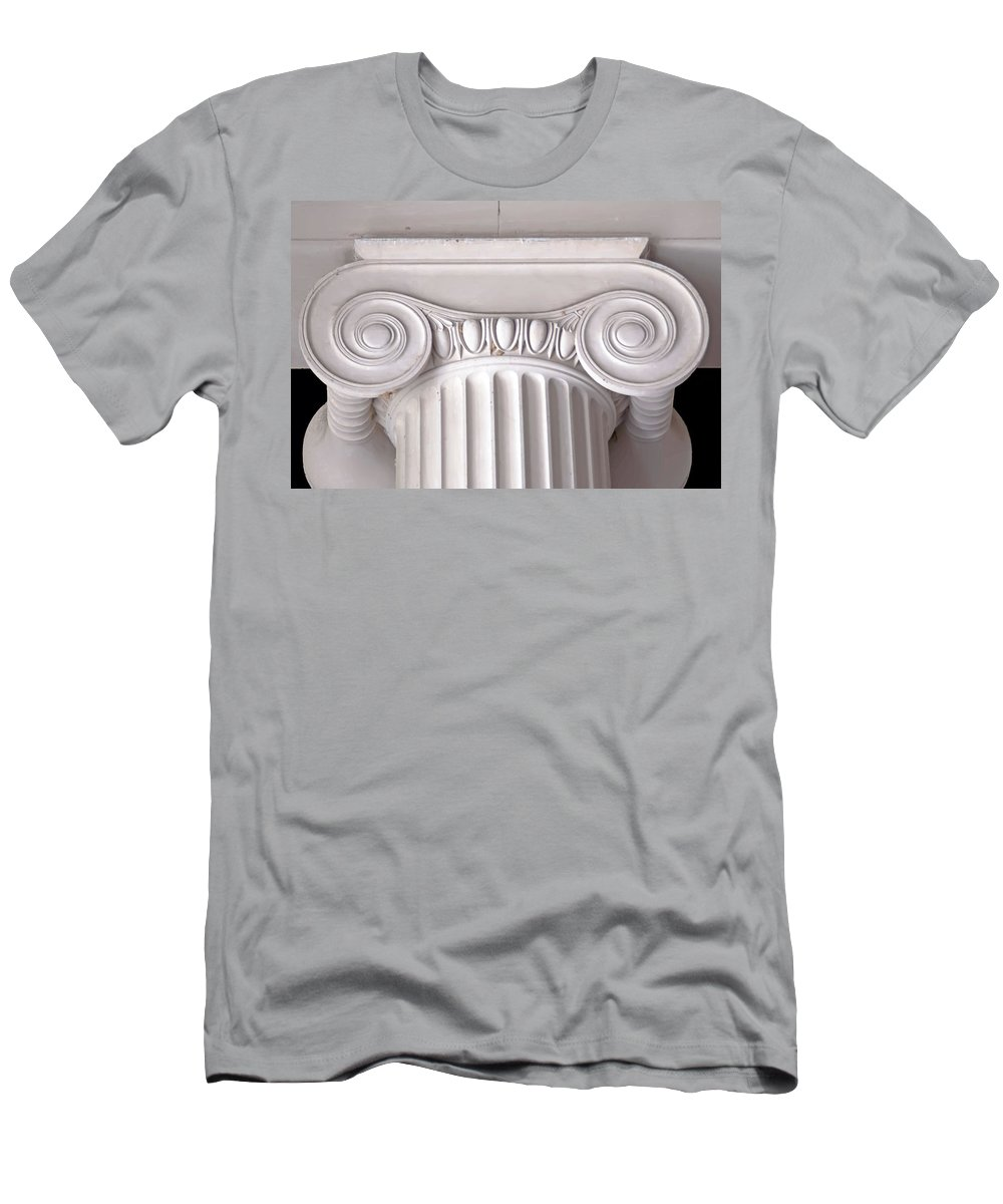 Gallery Men's T-Shirt (Athletic Fit) featuring the photograph Neoclassical Ionic Architectural Details by Alex Grichenko