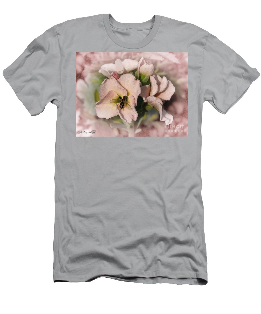 Mccombie Men's T-Shirt (Athletic Fit) featuring the painting Single Peach Stocks From The Vintage Mix by J McCombie